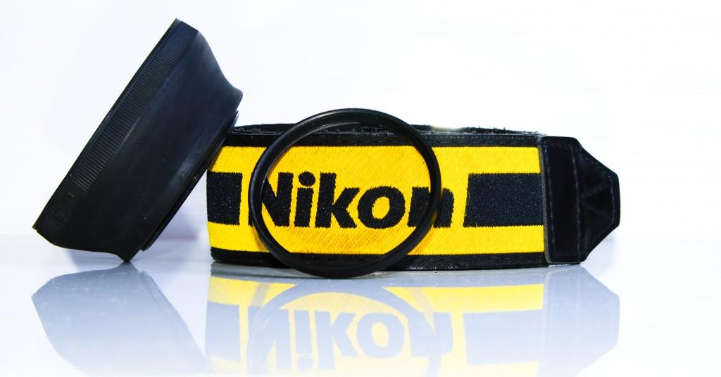 Paraluce in Gomma, cinghia Nikon e Filtro COKIN