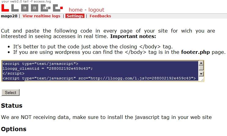 LLOOGG: come installarlo su WordPress