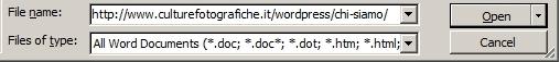 aprire una pagina web con word