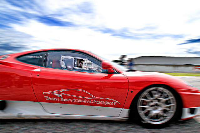 Ferrari in pista ad Anagni