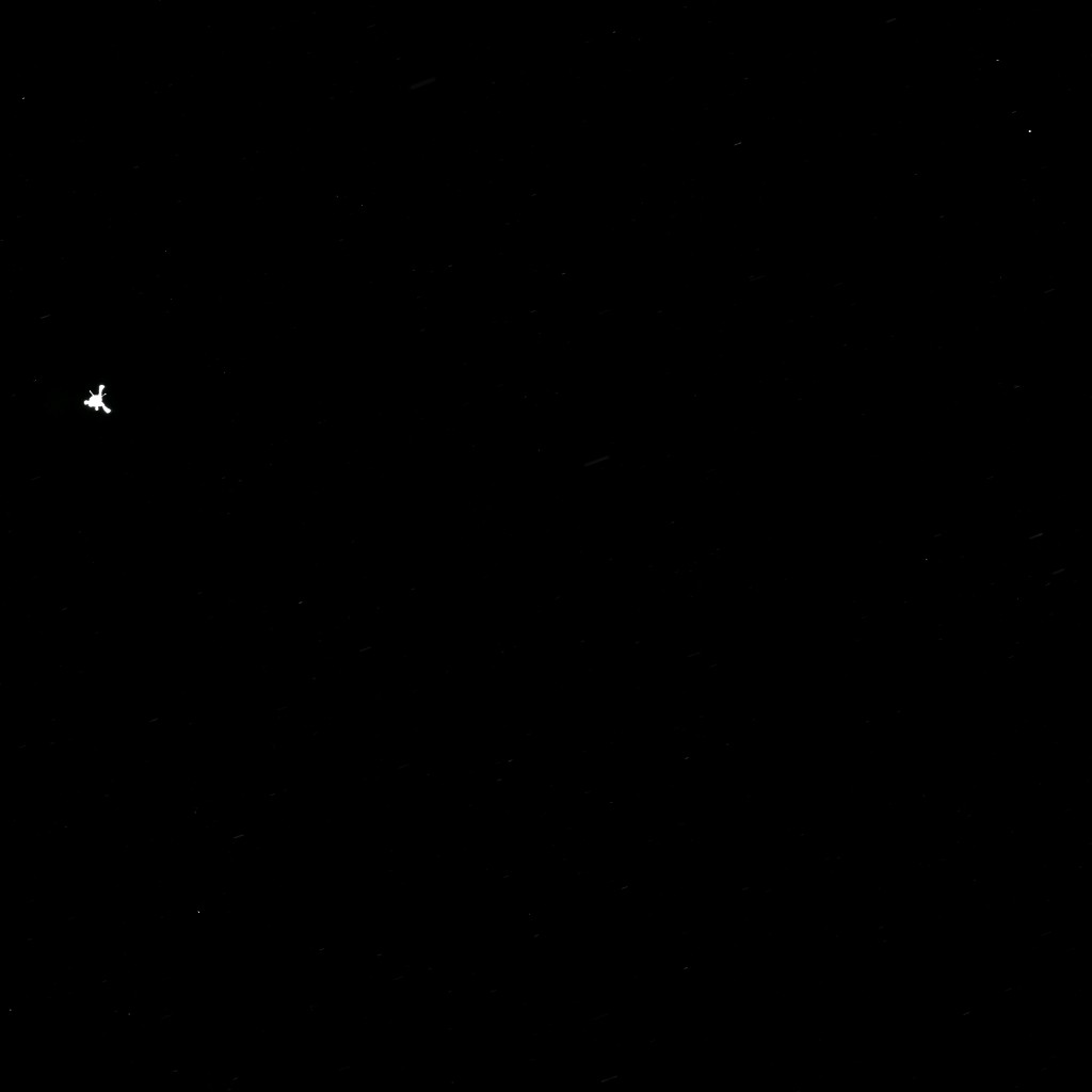 Rosetta's OSIRIS narrow-angle camera captured this parting shot of the Philae lander after separation.