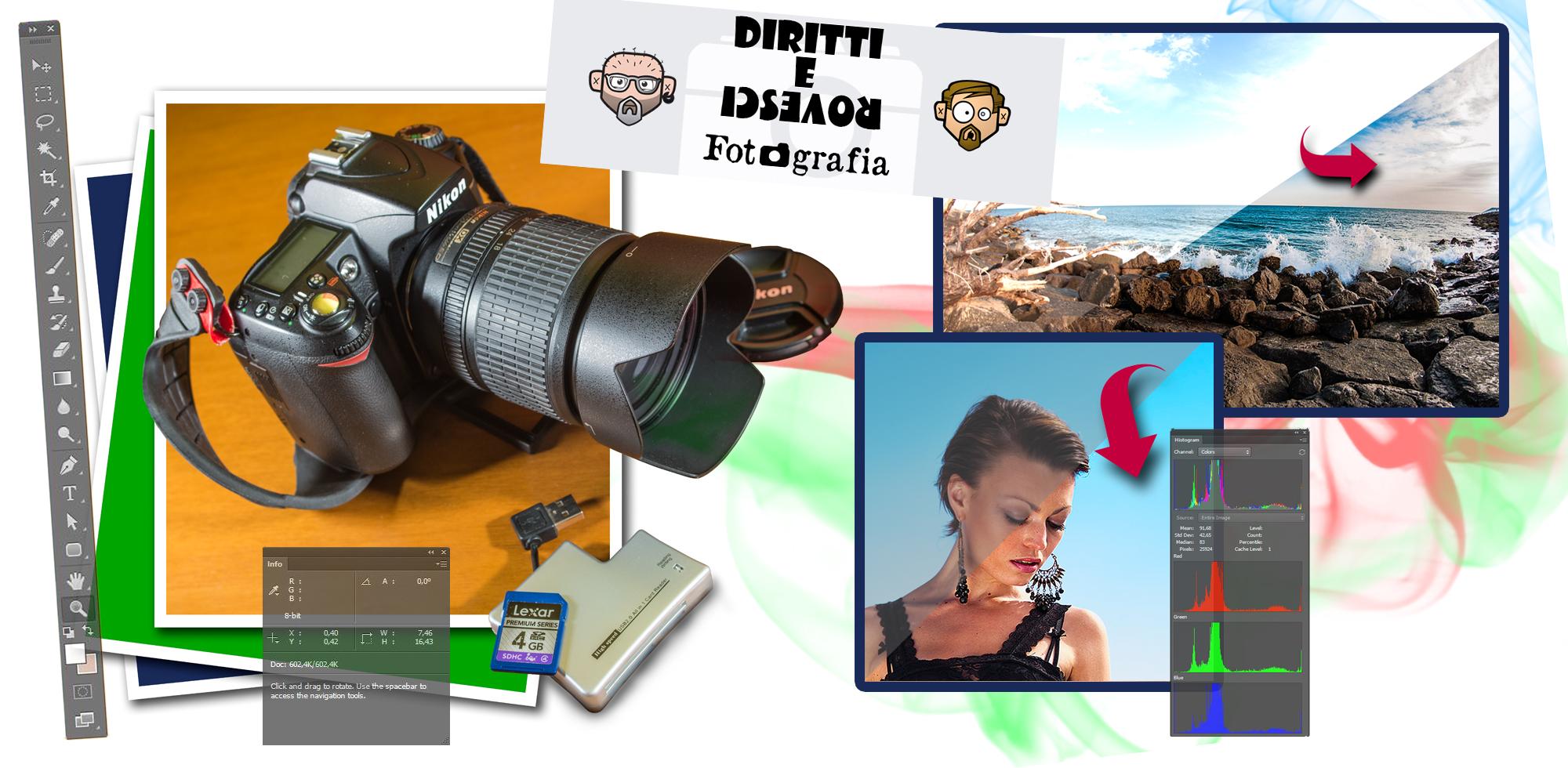 DIRITTI&rovesci Fotografi – Corso di Photoshop per Fotografi